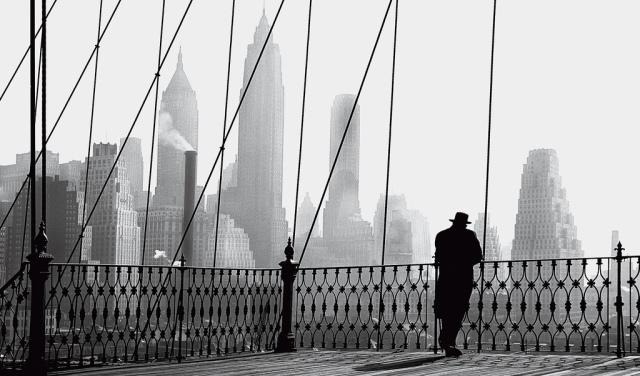 Paul Himmel: Brooklyn Bridge View, 1950.